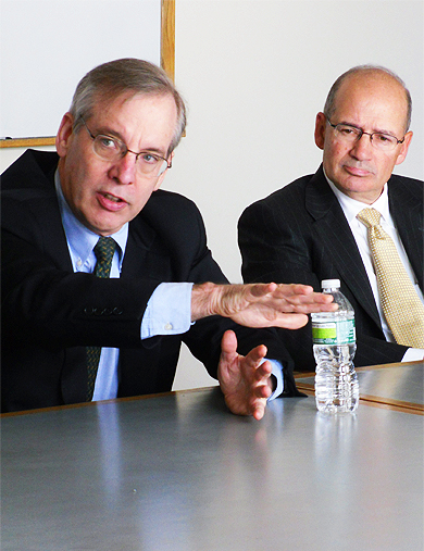 President Dudley guest lectures at the University of Rochester