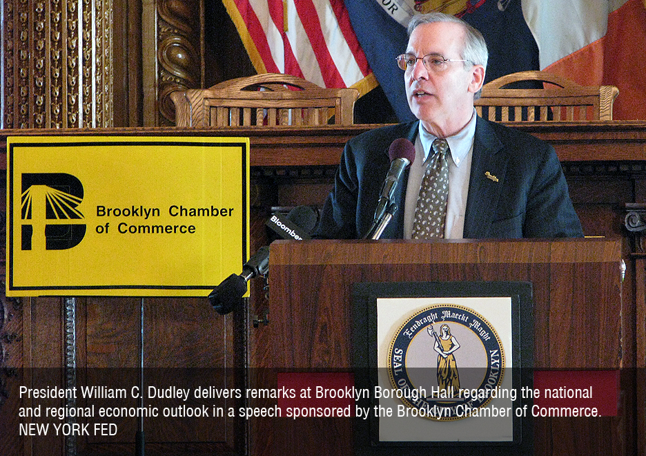 President William C. Dudley delivers remarks at Brooklyn Borough Hall